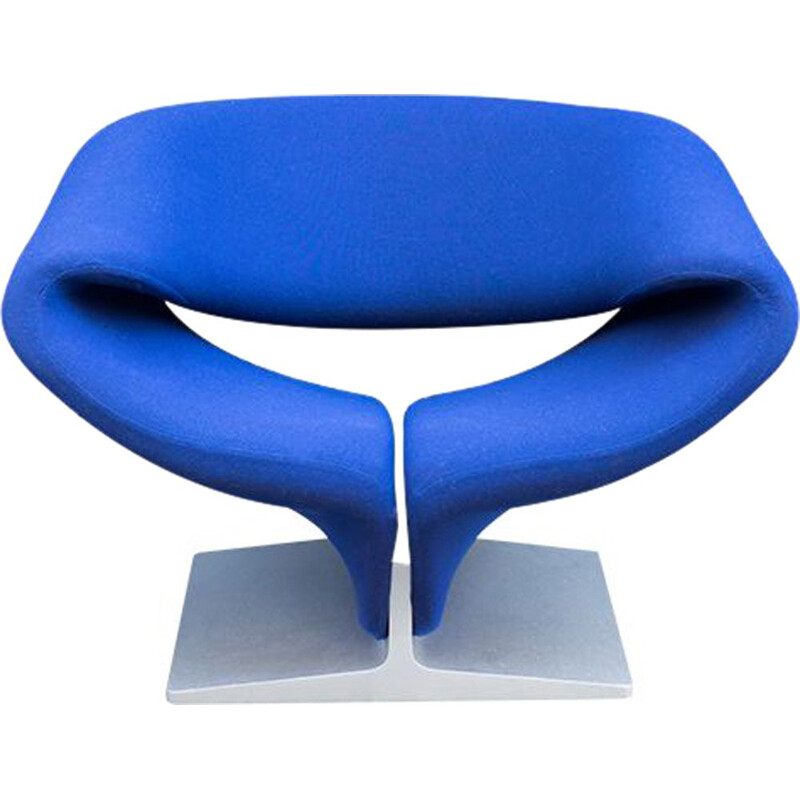 Vintage Armchair Ribbon Blue by Pierre Paulin for Artifort