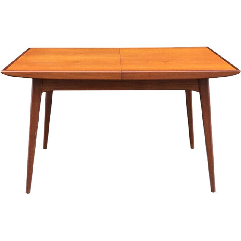 Vintage dinner table in teak extendable by Louis Van Teeffelen