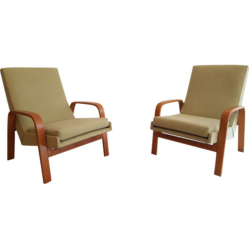 Pair of vintage armchairs ARP for Steiner, France 1950