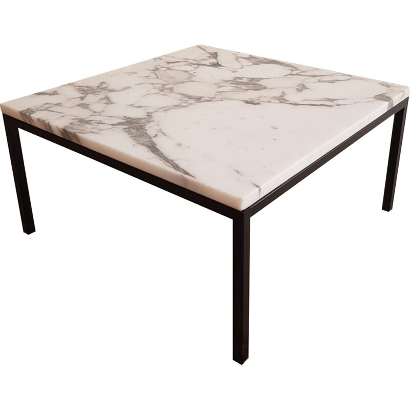 Vintage coffee table square in marble by Florence Knoll for Knoll, Denmark 1960