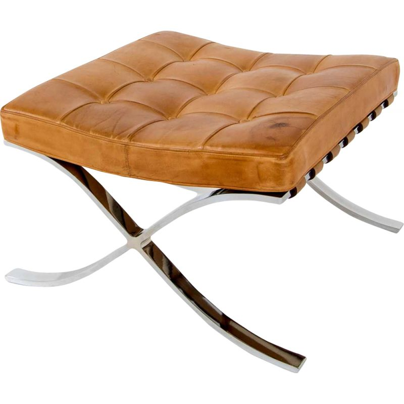 Vintage footstool Early edition Barcelona by Mies Van der Rohe for De coene Knoll International
