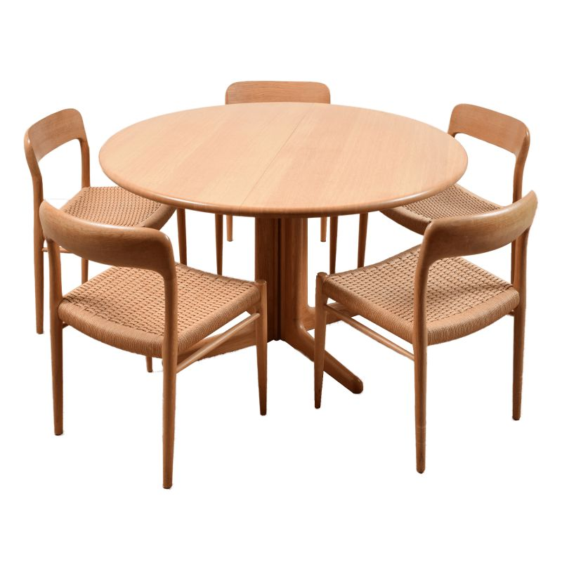 Vintage Dining Table Set By Niels Otto Moller 1950s Design Market