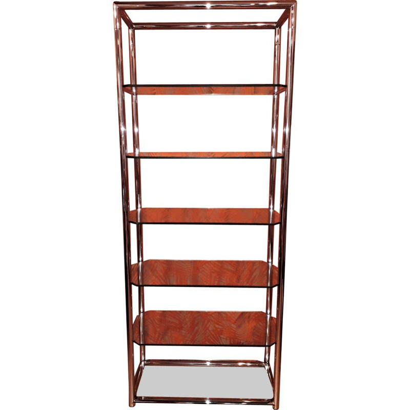 Vintage bookcase in chrome 1970s