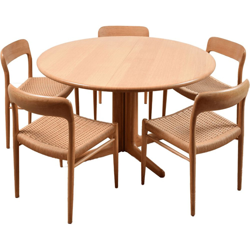 Vintage Dining table set by Niels Otto Møller 1950s