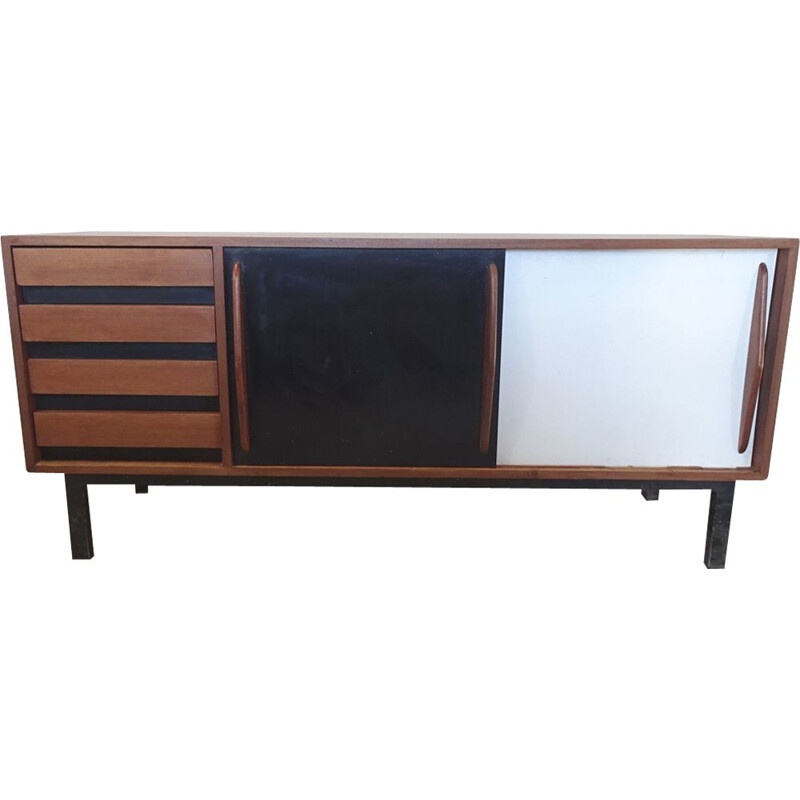 Vintage mahogany sideboard by Charlotte Perriand,1950