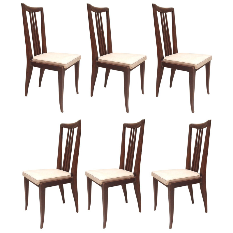 6 dining chairs, Etienne-Henri MARTIN - 1940s