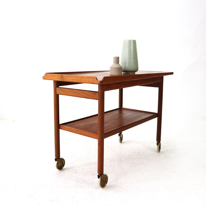 Vintage Serving Table In Teak Danish