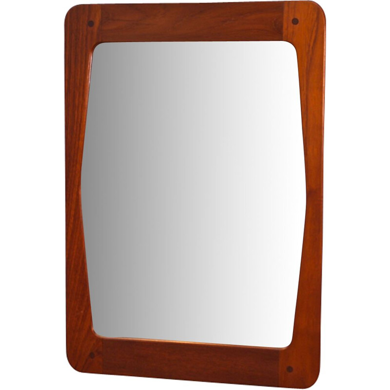 Vintage danish mirror in teak 1960s