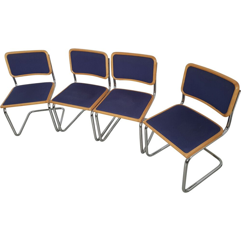 Set of 4 vintage chairs by Marcel Breuer B32