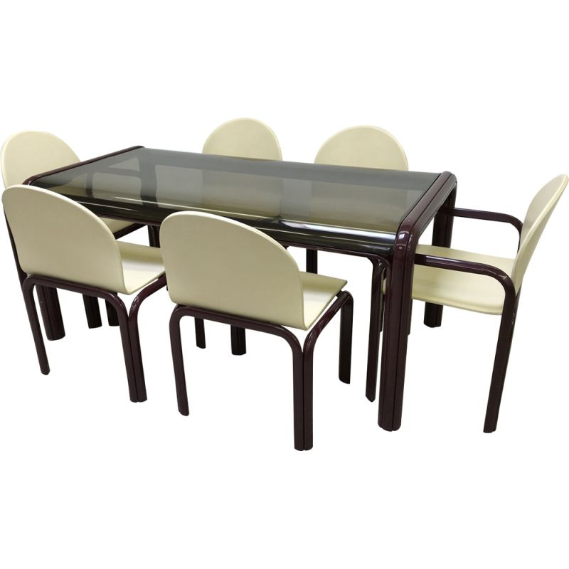 Vintage dining set Knoll model 54A by Gae Aulenti 1969