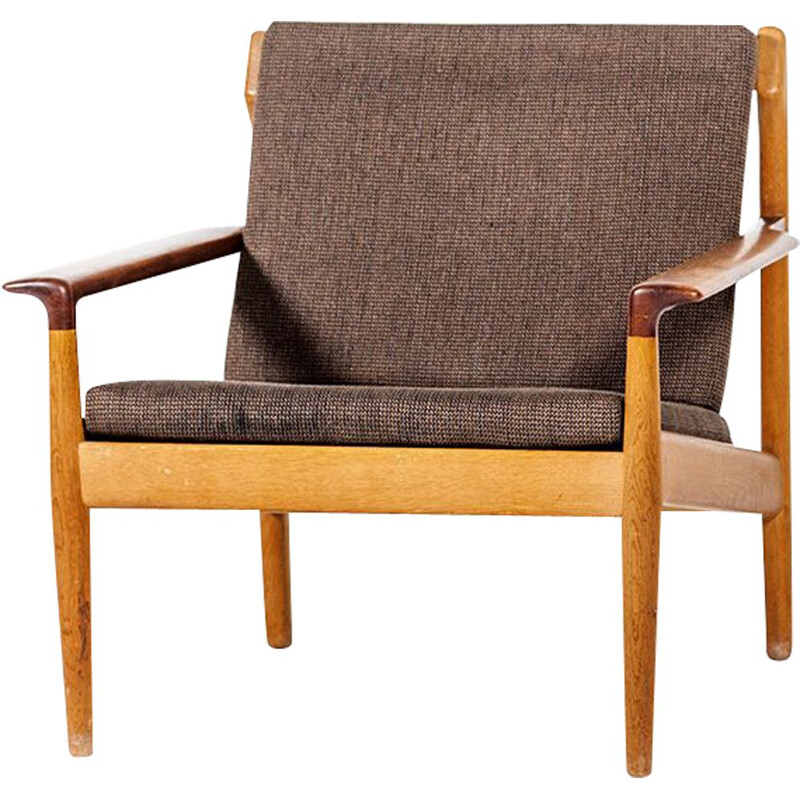 Vintage scandinavian armchair for Bovenkamp in oak and teak 1960