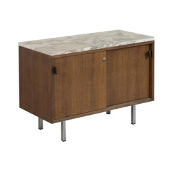 Wood and marble chest of drawers, Florence KNOLL - 1960