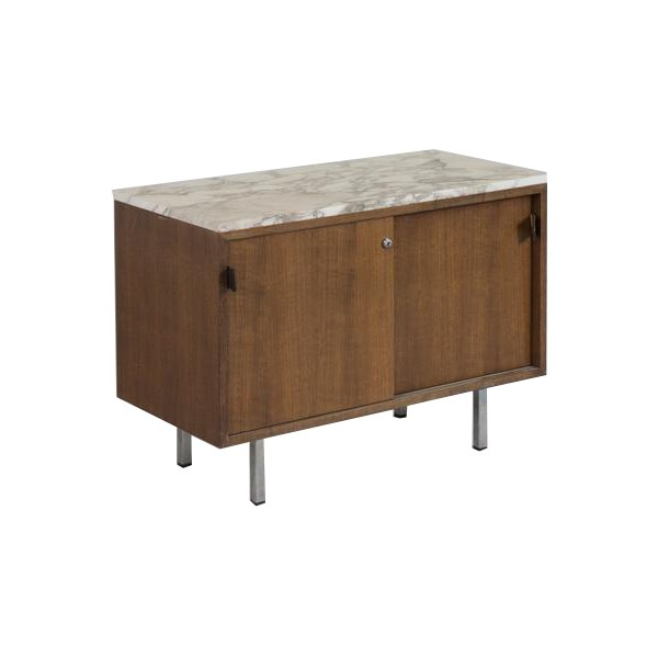 Wood And Marble Chest Of Drawers Florence Knoll 1960