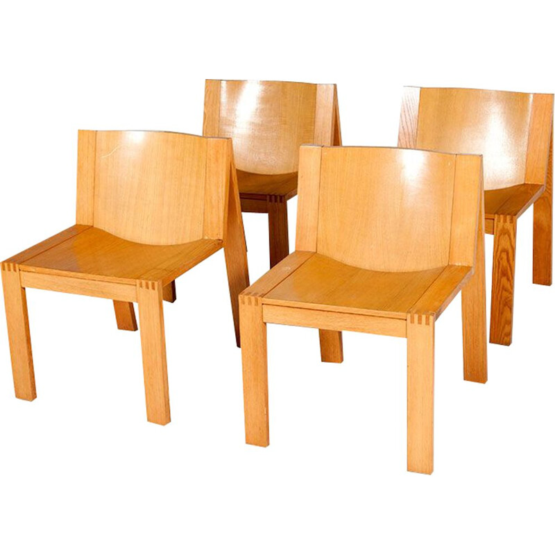 Set of 4 dining chairs model SE15  by Boonzaijer & Mazairac for Pastoe,1976