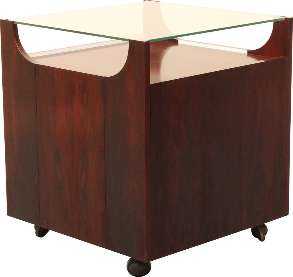 Rosewood Glass And Metal Bar Cabinet Bruno Munari 1960s  # Munari Meuble
