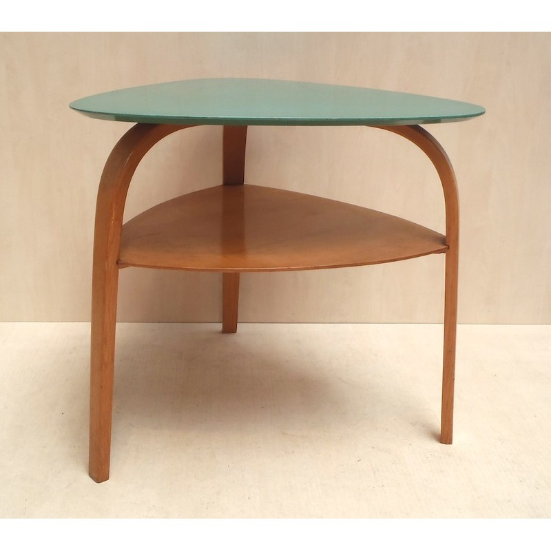 Tripod coffee table hugues steiner 1950s design market - Table basse tripode vintage ...