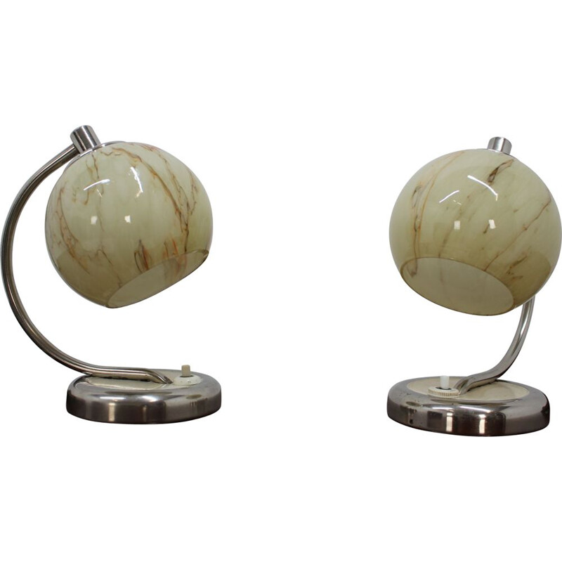 Vintage Pair of table lamps,1950