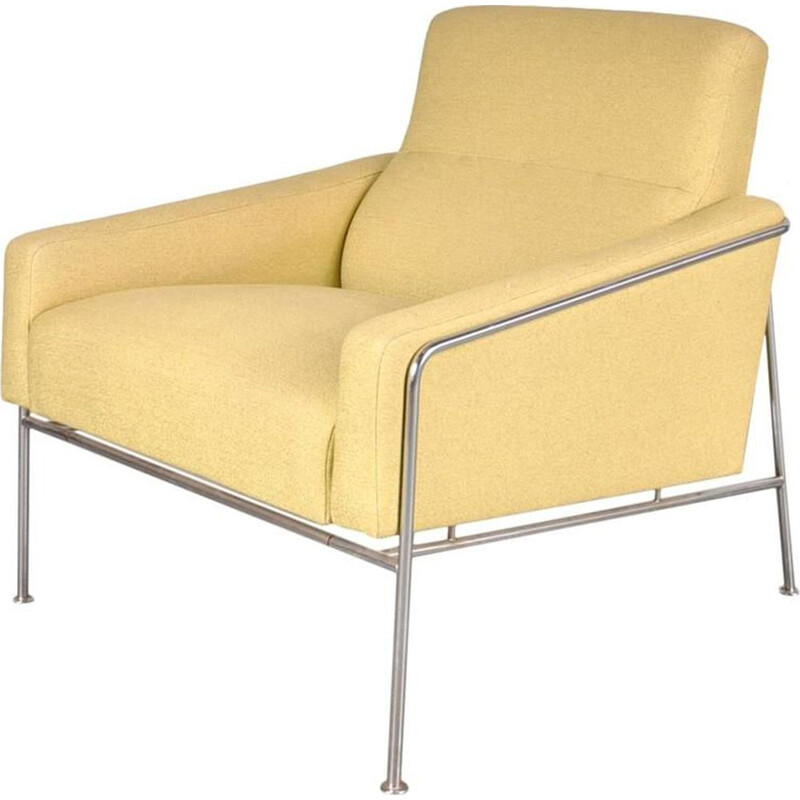 Vintage armchair Airport by Arne Jacobsen for Fritz Hansen Denmark 1960s
