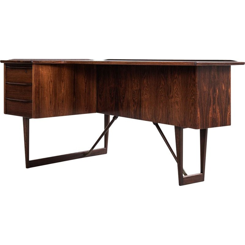 Vintage Boomerang desk in rosewood by Peter Løvig Nielsen for Hedensted