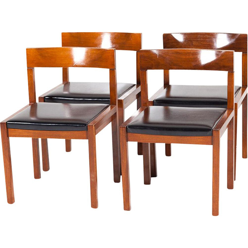 Vintage set of 4 dining chairs by Alfred Hendrickx for Belform