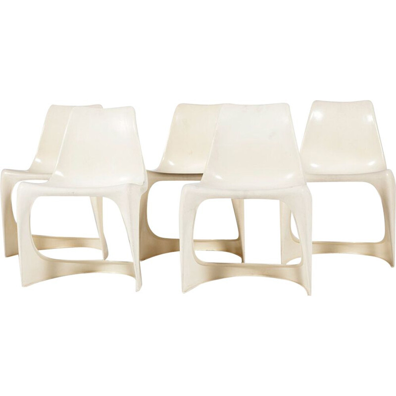 Set of 5 vintage A-Line 290 side chairs by Steen Ostergaard for Cado