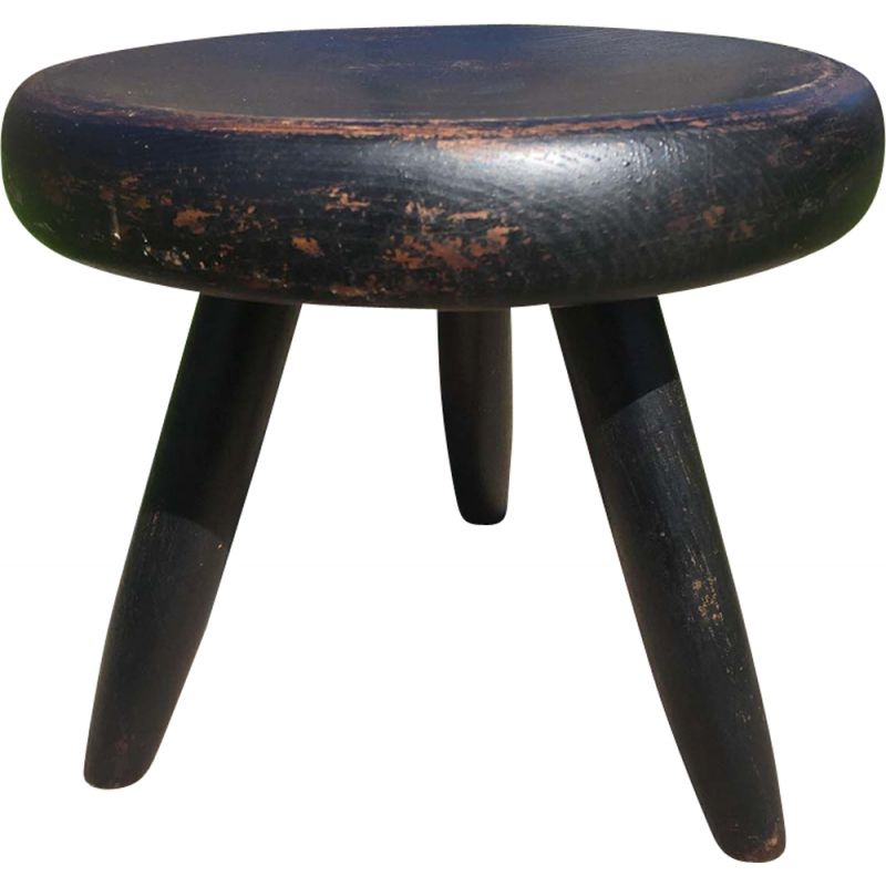 Vintage low stool Charlotte Perriand