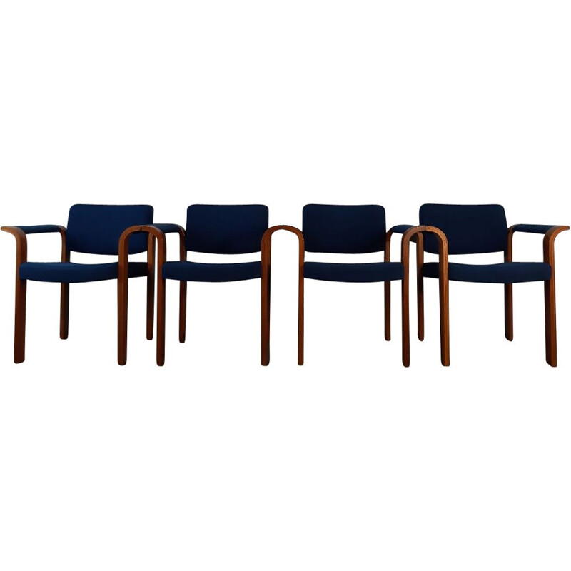 Set of 4 vintage chairs by Thygessen and Sorensen for Magnus Olesen