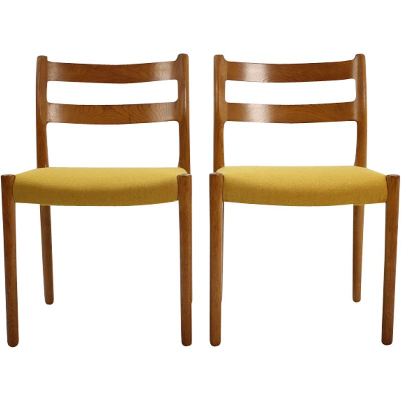 Vintage set of 4 dining chairs in oak  by N.O. Møller,1960
