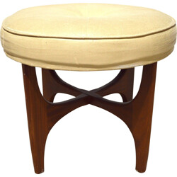 Teak and afromosia stool, Victor Bramwell WILKINS - 1960s