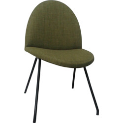 Steiner chair in metal and green fabric, Joseph André MOTTE - 1958