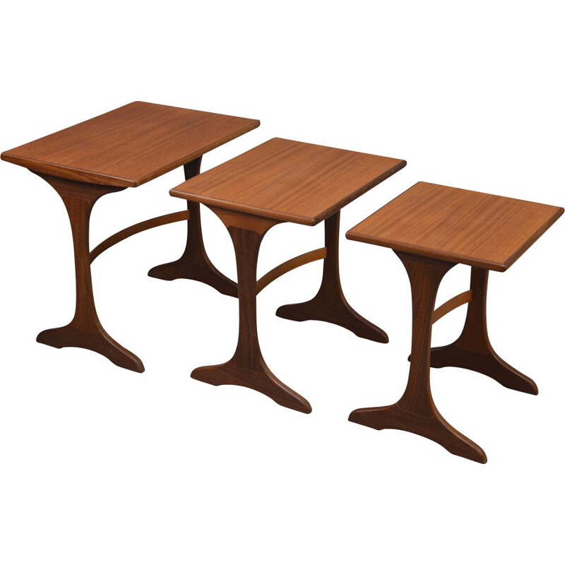 Vintage set of 3 coffee tables by V.B Wilkins for G Plan,1970