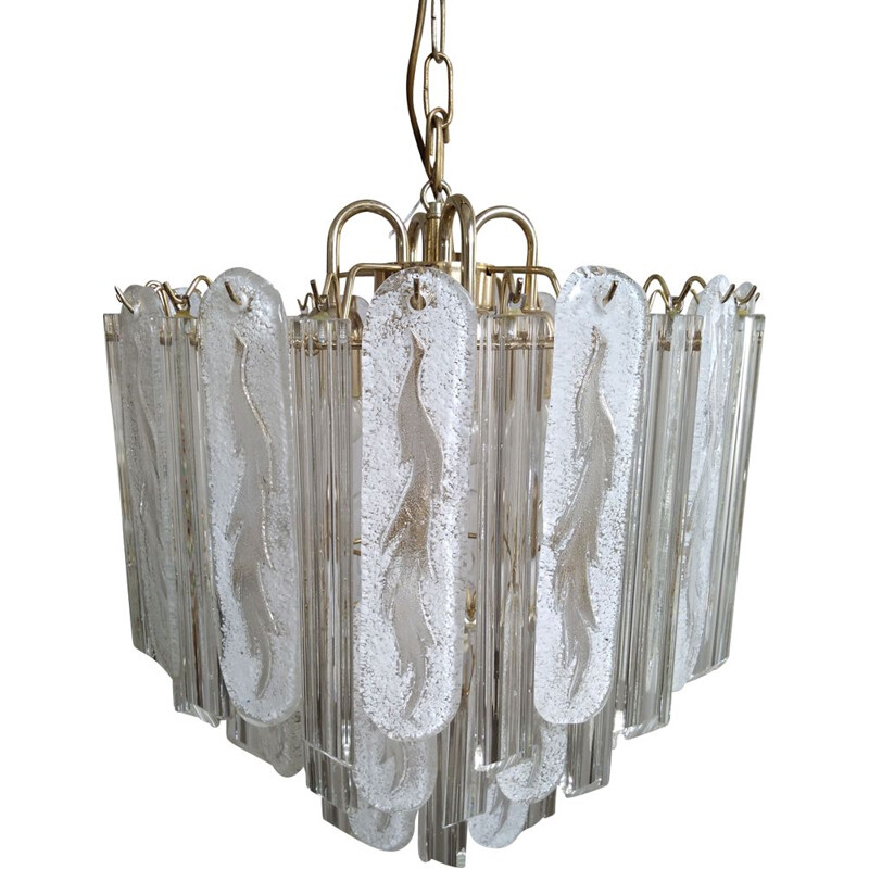 Vintage chandelier by Paolo Venini in Murano glass, Italy