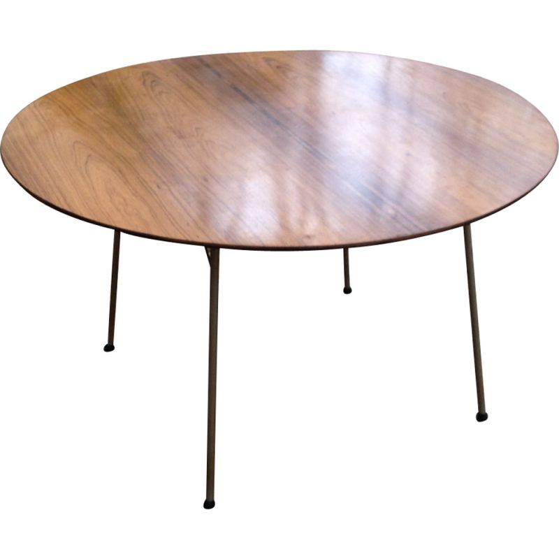 Vintage dining table round in rosewood Arne Jacobsen