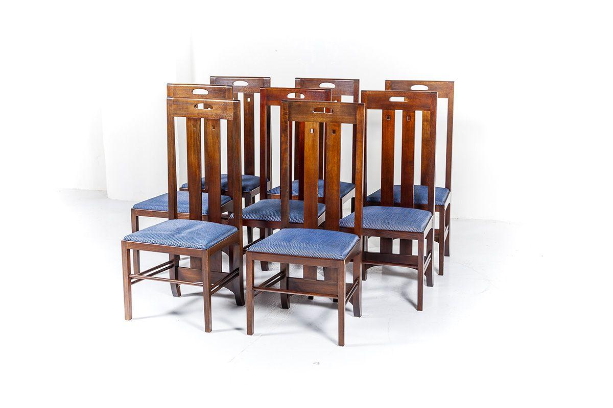 Set Of 8 Vintage Dining Chairs Ingram By Charles Rennie