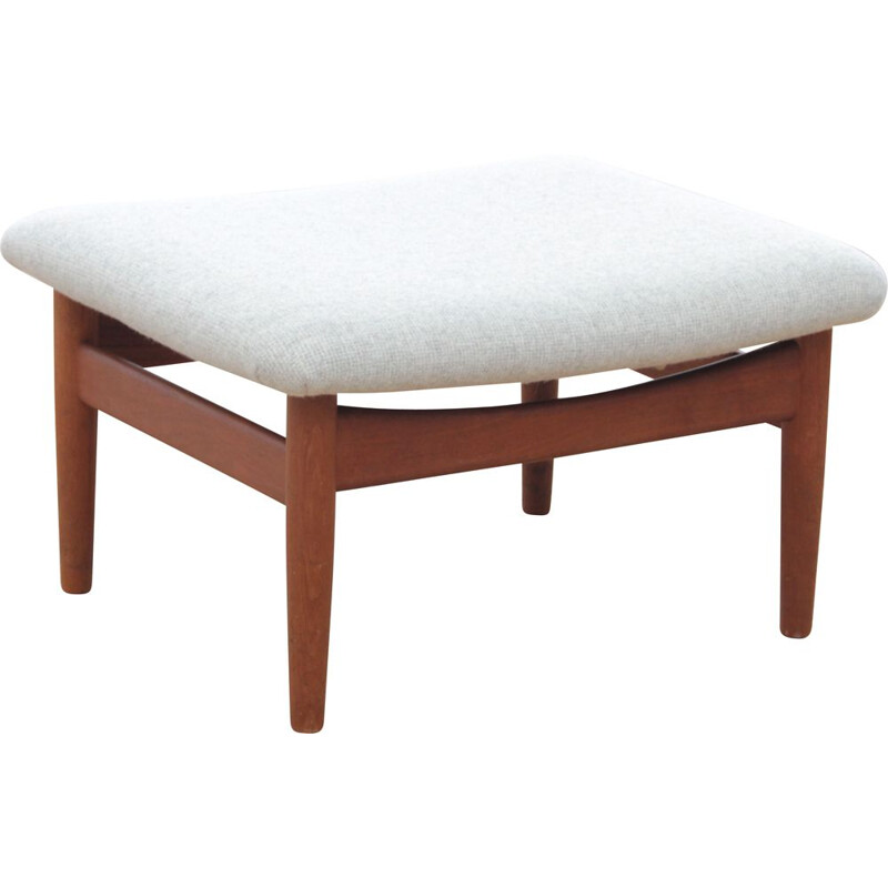 Vintage footstool Scandinavian in teak model FD137