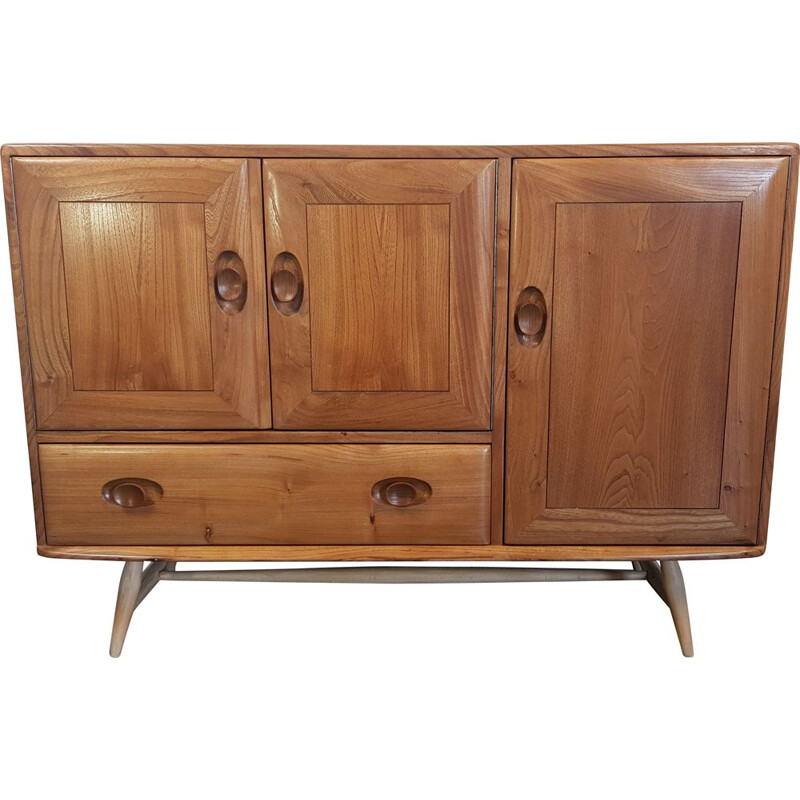 Vintage elm sideboard by Lucian Ercolani, model 184