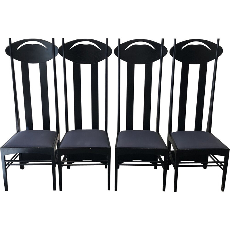 Set of 4 Argyle chairs by Charles Rennie for Cassina