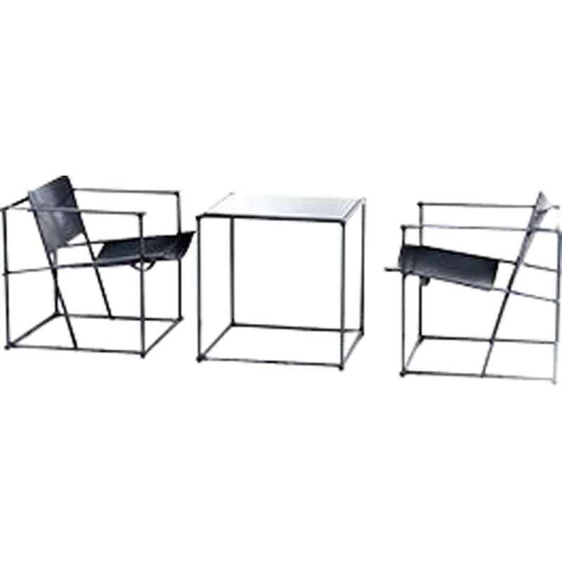 Vintage Chairs and Table FM61 Cubic by Radboud van Beekum for Pastoe, 1980s