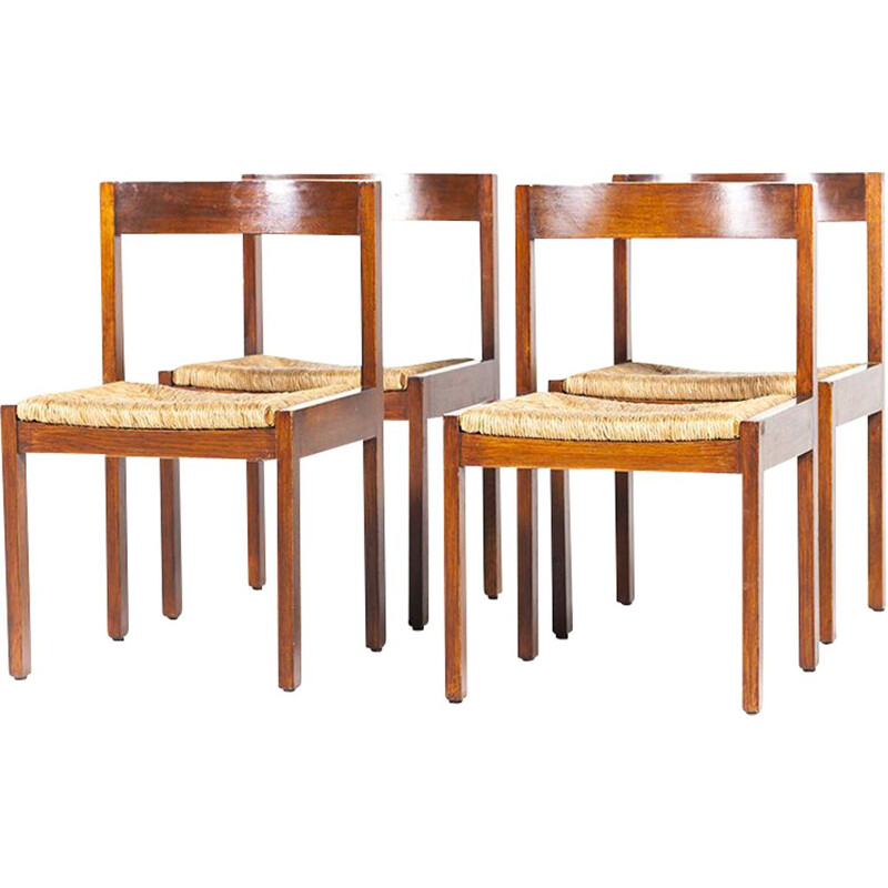 Set of 4 Vintage Dining Chairs by Martin Visser for T Spectrum, 1960s