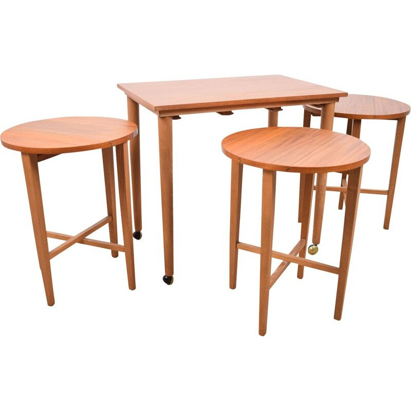 Vintage Nesting tables by Poul Hundevad for Novy Domov Czechoslovakia