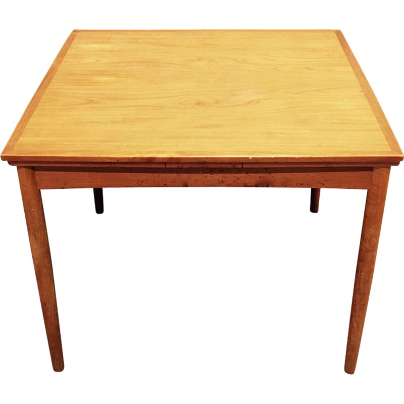 Vintage scandinavian extendable table in teak 1950