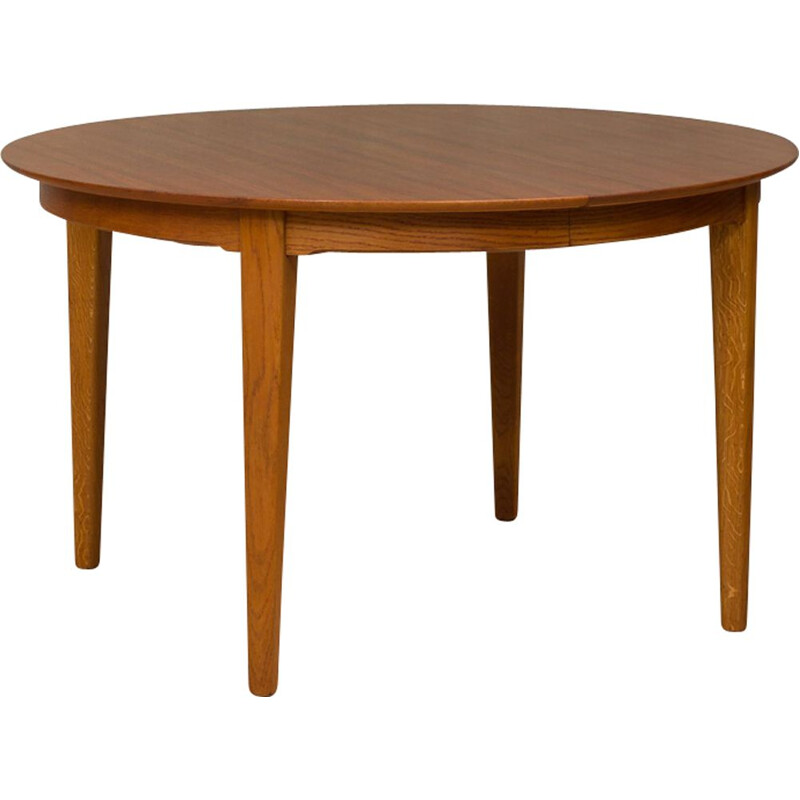 Vintage extendable table for Soro in teak and oak 1960