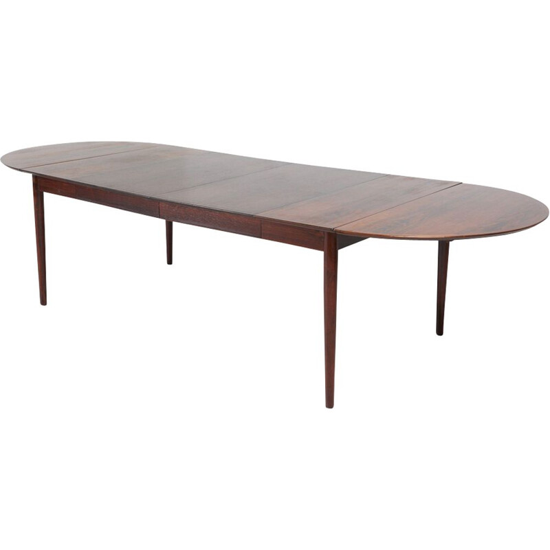 Vintage scandinavian model 227 table for Sibast in rosewood 1950