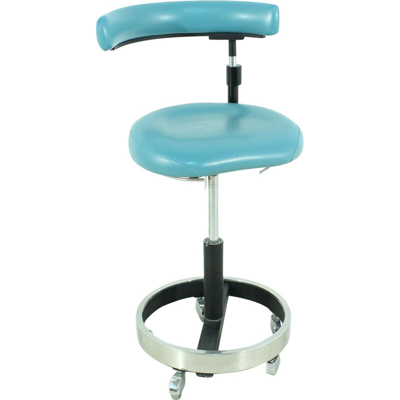 Vintage Stool Doctor blue Germany 1960s