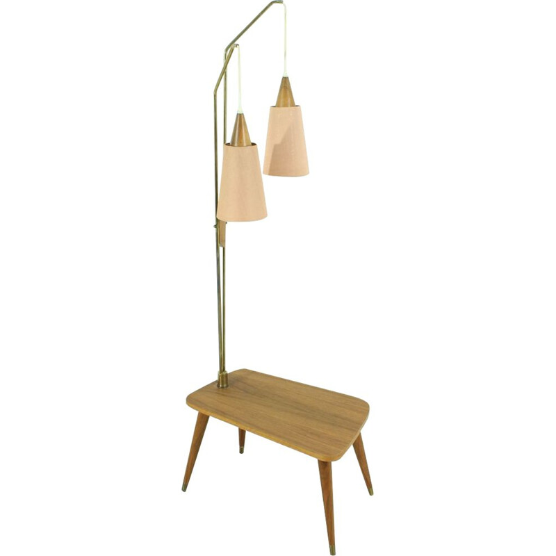 Vintage Floor Lamp in Teak, 1960s