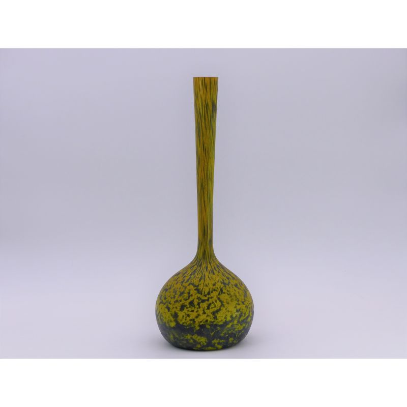 Vintage Yellow Vase By Delatte Nancy In Glass 1930 Design Market