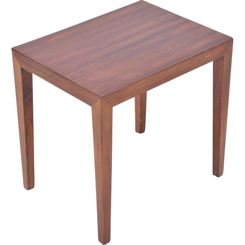 Vintage scandinavian side table by Severin Hansen in rosewood 1960