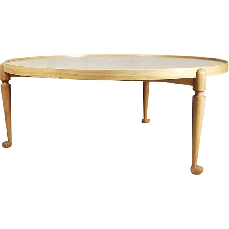 Vintage 2139 table for Svenskt Tenn in walnut and burlwood 1940