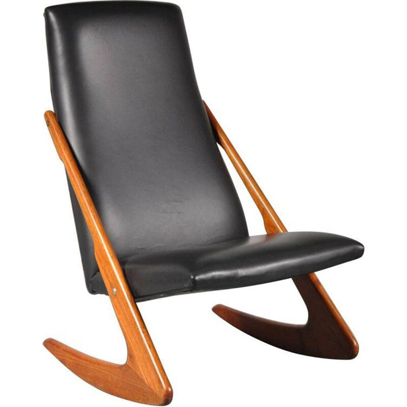 Boomerang rocking chair by Mogens Kold