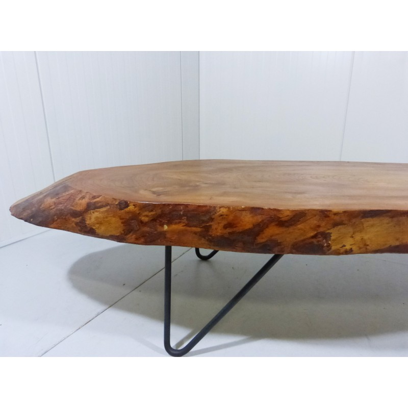 Solid Stainless Steel Coffee Table: Steel And Solid Wooden Coffee Table